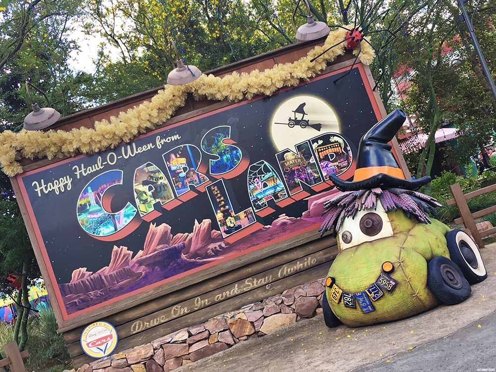Disney California Adventure Halloween Time Cars Land