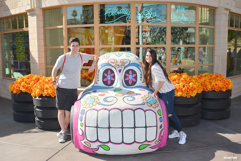 Disney California Adventure Halloween Time Skull Car