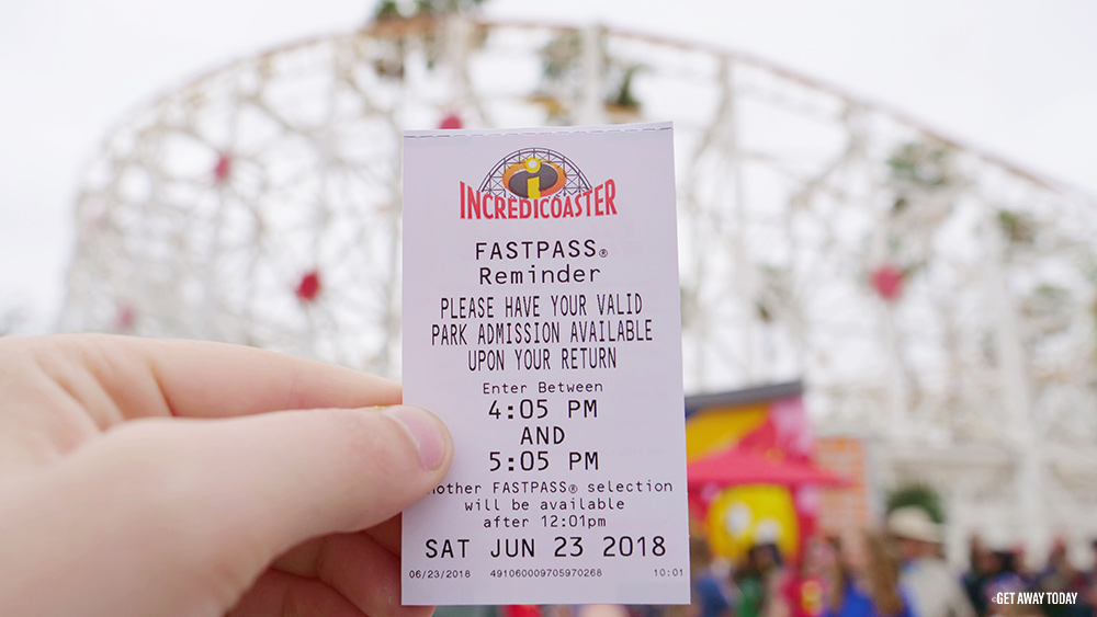 Disneyland Digital Fastpass Incredicoaster