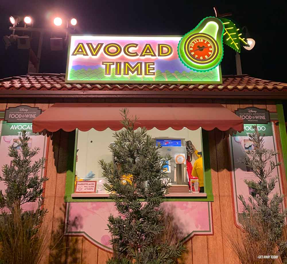 Disneyland Food and Wine Festival Avocado Time Marketplace