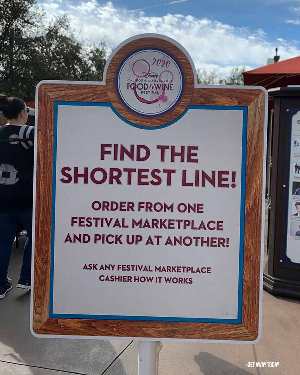 Disneyland Food and Wine Festival Order from One Place sign