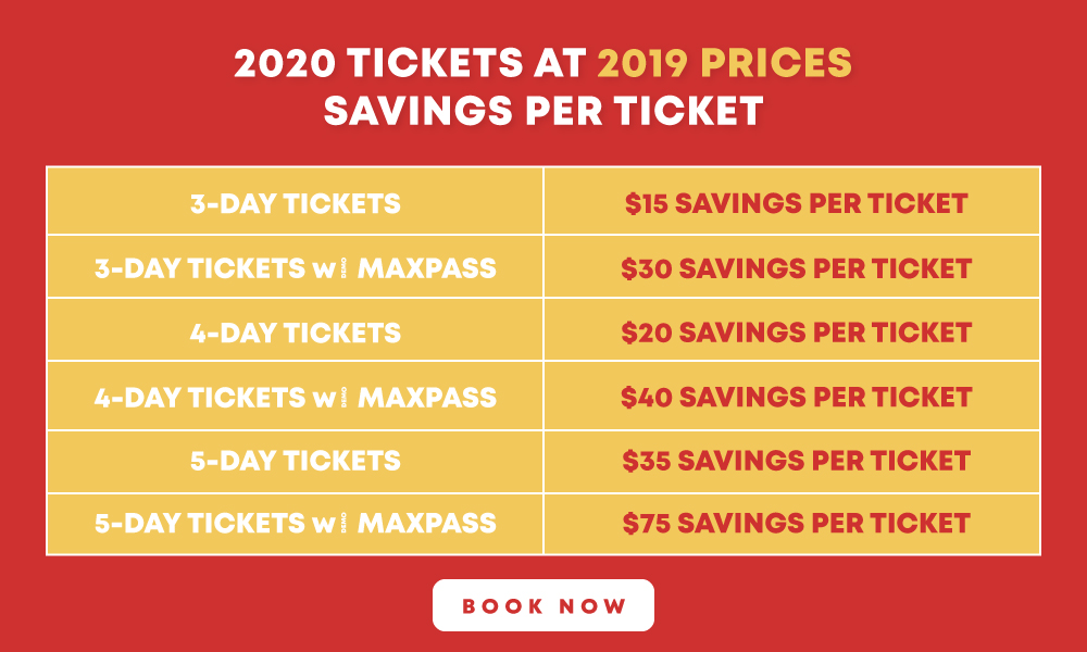2020 Disneyland Price Increase Ticket Savings