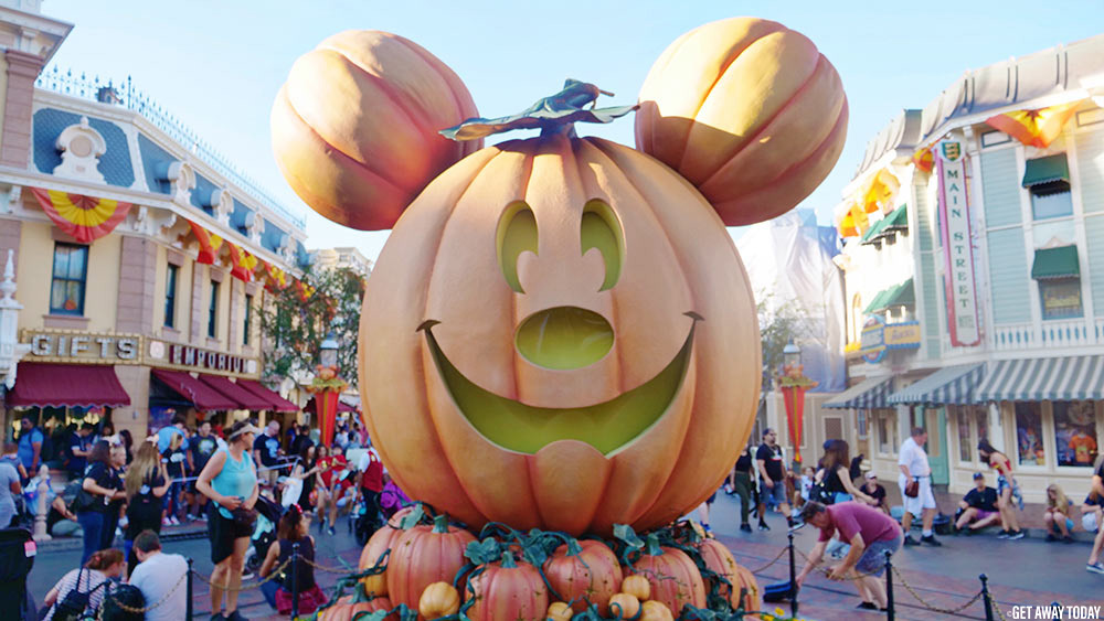 Halloween Time Disneyland September Mickey Pumpkin