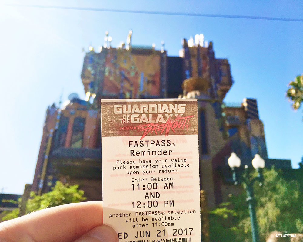 New Guardians of the Galaxy Ride Disneyland Old Tower of Terror FastPass