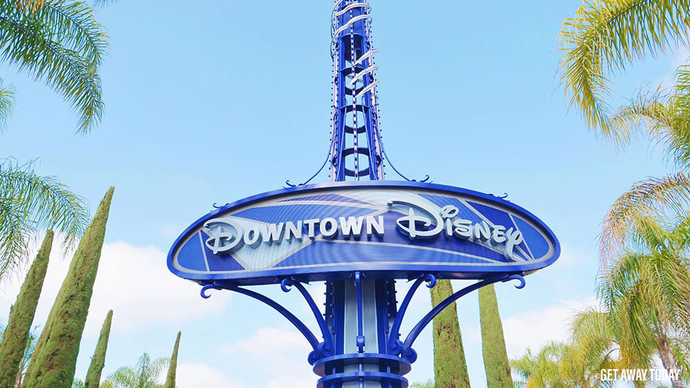 Whats New at Downtown Disney Sign