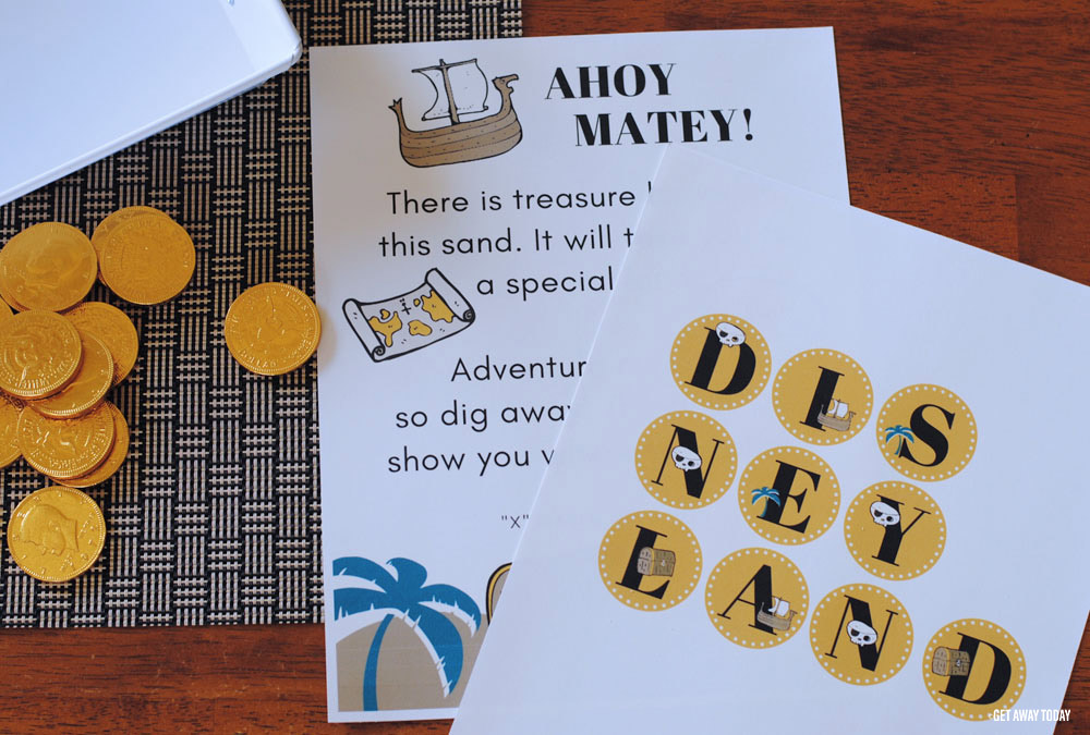 Buried Treasure Disney Vacation Reveal Printables