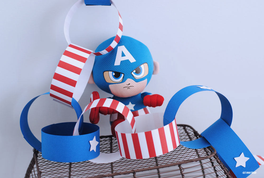 Captain American Countdown Chain Links