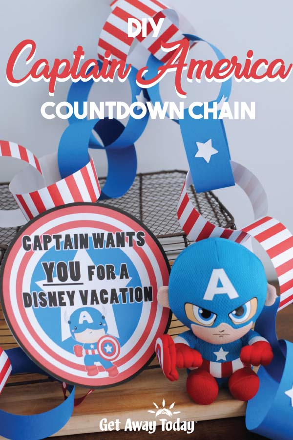 DIY Captain American Countdown Chain || Get Away Today