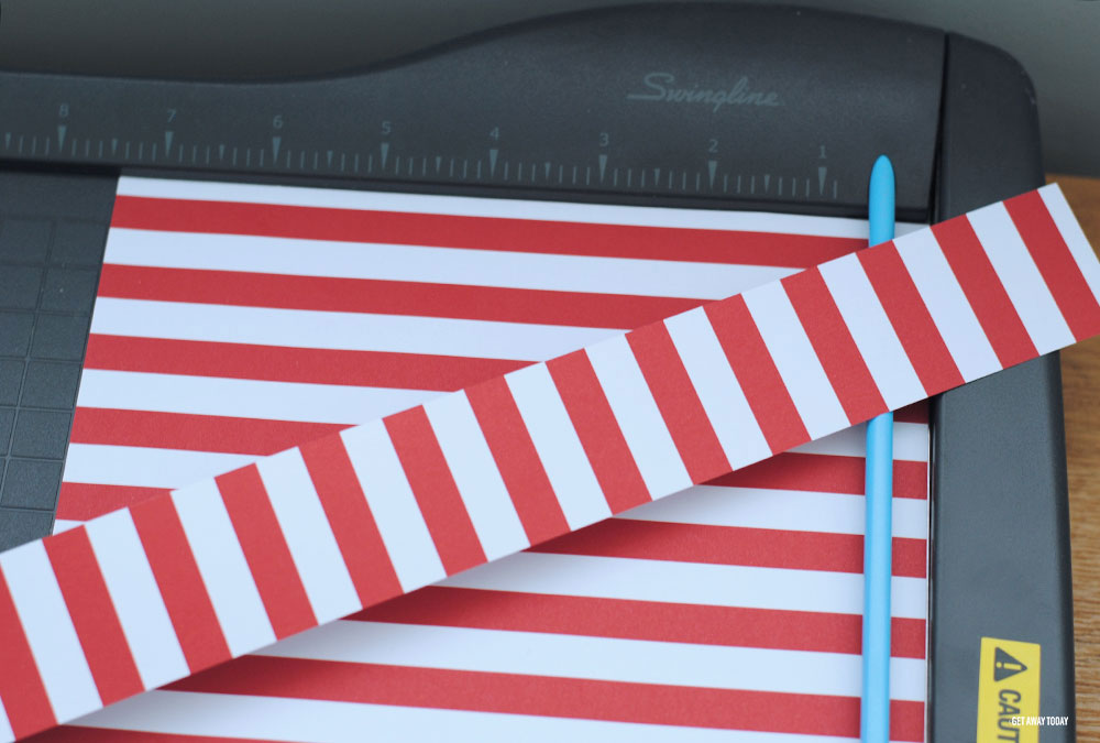 Captain American Countdown Chain Red and White Striped Strips