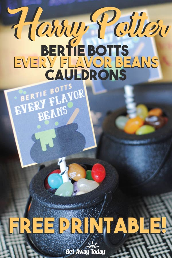 Harry Potter Bertie Botts Every Flavor Beans Free Printable || Get Away Today