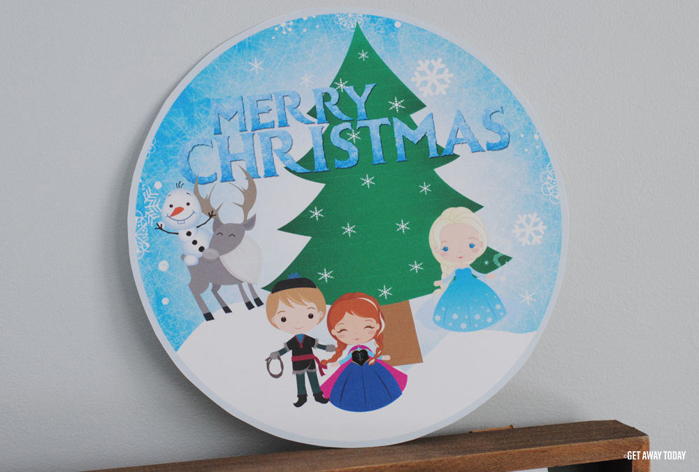 Frozen Snow Globe Circle Cut Out