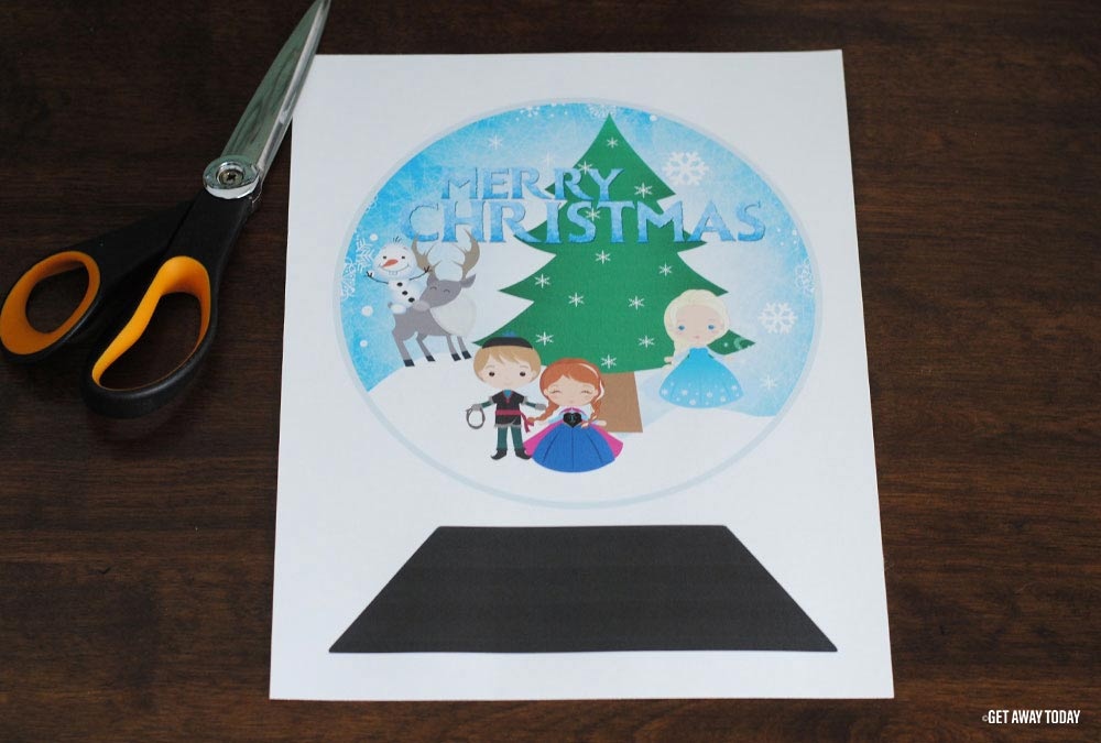 Frozen Snow Globe Template