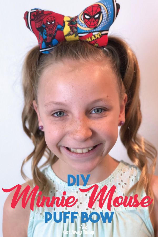 DIY Minnie Mouse Puff Bow || Get Away Today