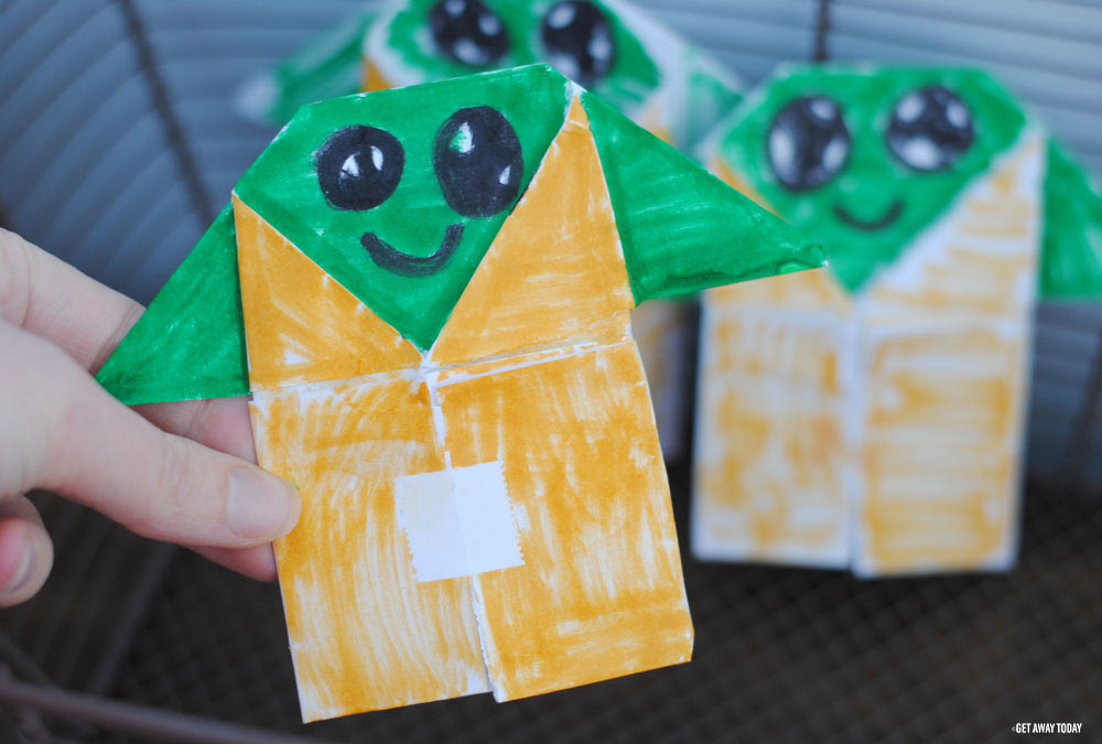 Easy Star Wars Origami - Post-it® Note Crafts Yoda Bookmark ... | 675x1000