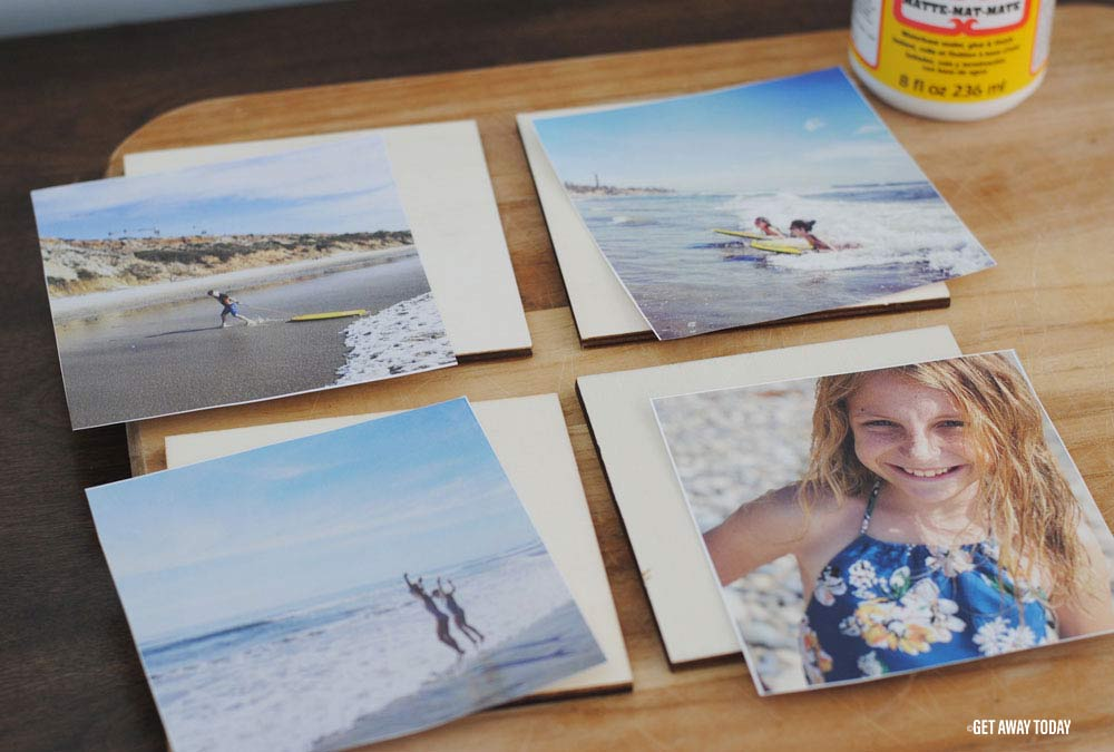 Photo Coasters DIY Four