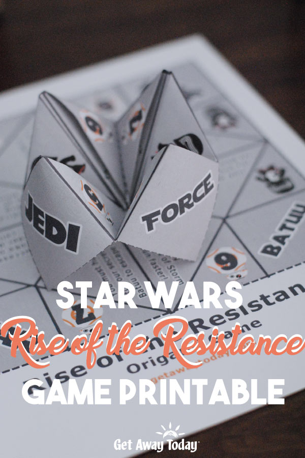 Star Wars Rise of the Resistance Game Printable || Get Away Today