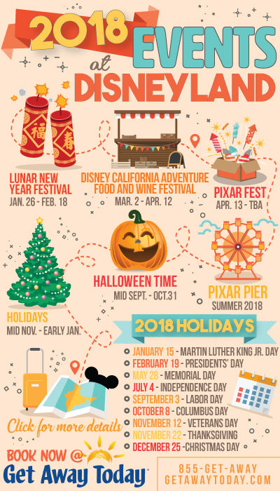 2018 Events at Disneyland || Get Away Today