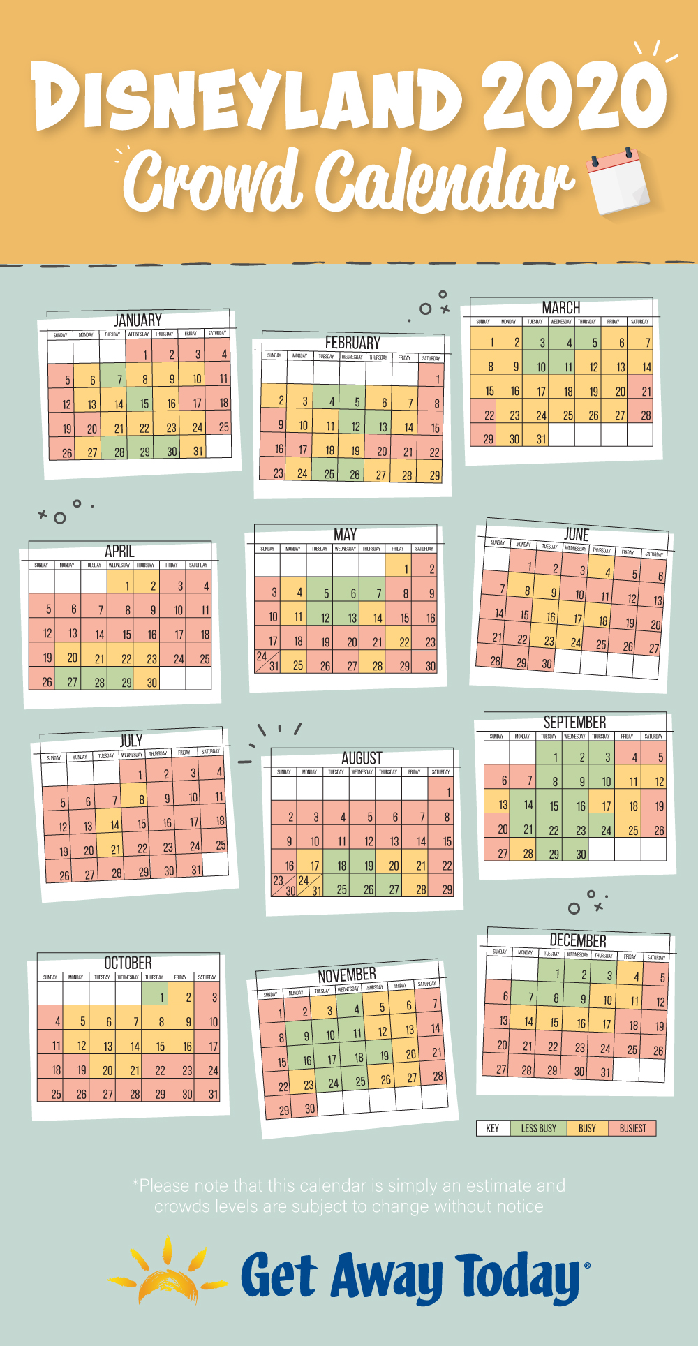Universal Crowd Calendar 2022.The Best Time To Go To Disneyland