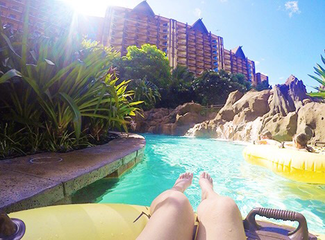 Aulani tips lazy river view