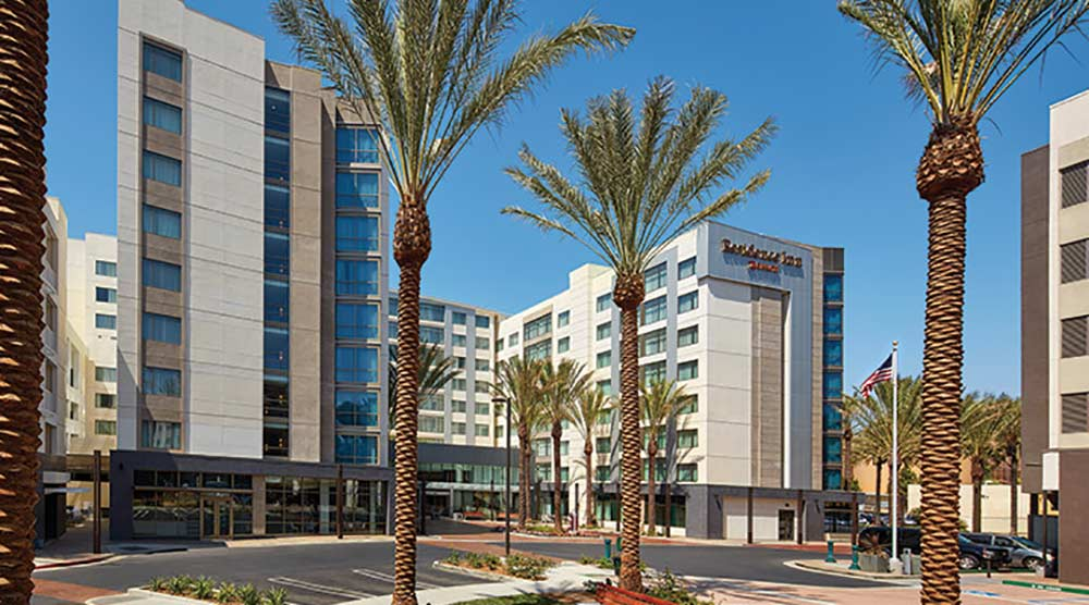 Best Disneyland Hotel for Large Families Residence Inn at Anaheim Resort Convention Center Exterior