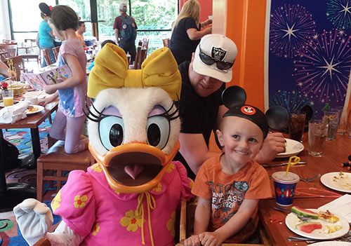 Character Dining at Disneyland Breakfast