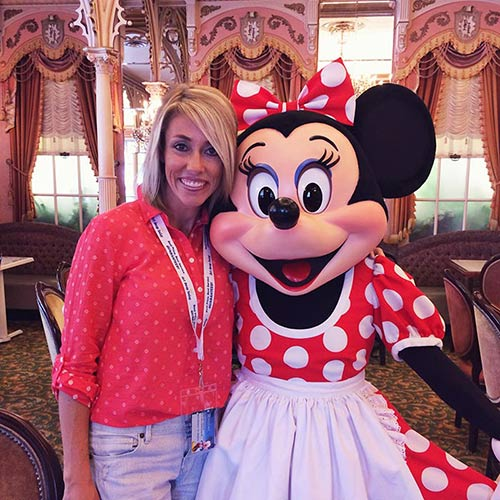 Character Dining at Disneyland with Minnie Mouse