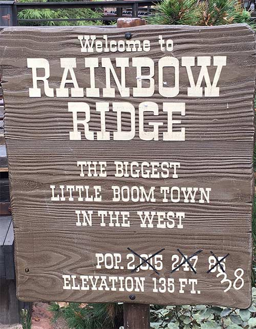 Big Thunder Mountain Railroad Secrets Welcome to Rainbow Ridge Sign