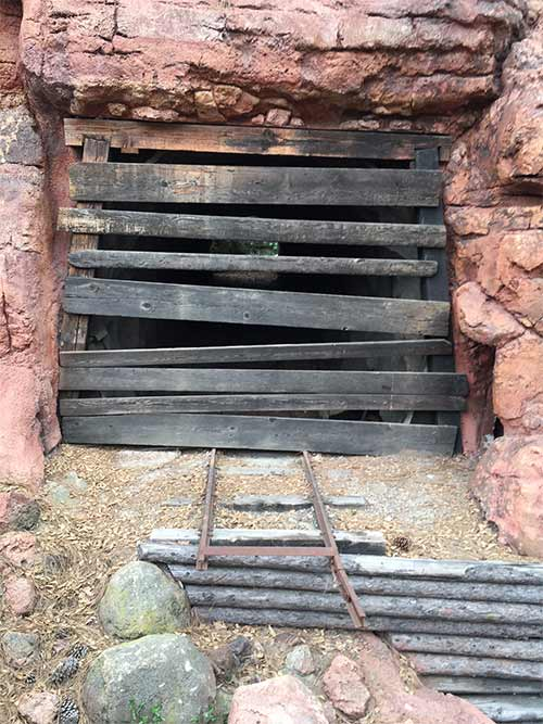 Big Thunder Mountain Railroad Secrets Tunnel and Tracks from former attractions