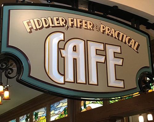 Buena Vista Street Disneyland Secrets Fiddler, Fifer and Practical Cafe