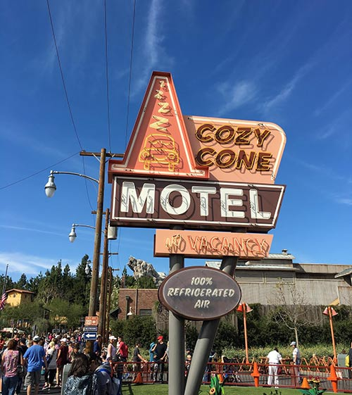Cars Land Secrets Cozy Cone Motel