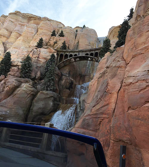 Cars Land Secrets Radiator Springs Racers Waterfall