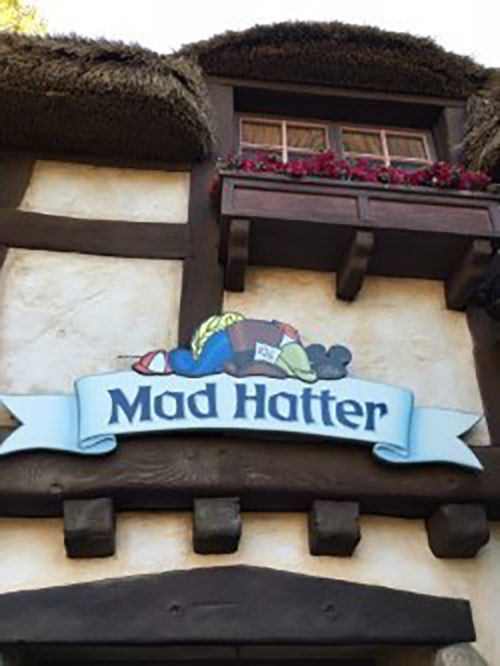 Fantasyland Rides at Disneyland Mad Hatter