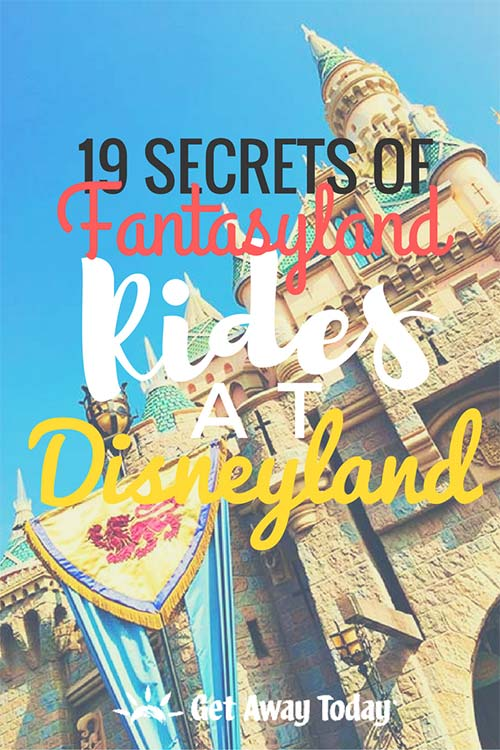 Fantasyland Rides at Disneyland