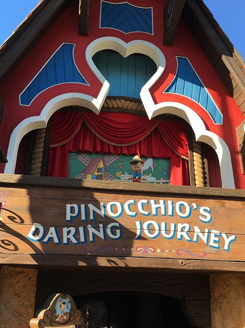 Fantasyland Rides at Disneyland Pinocchio Daring Journey
