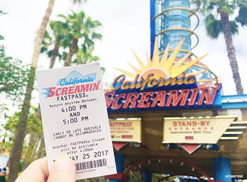 Paradise Pier in California Adventure California Screamin Fastpass