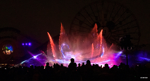Paradise Pier in California Adventure World of Color