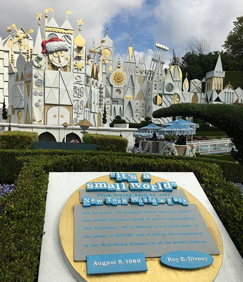 its a small world at Disneyland
