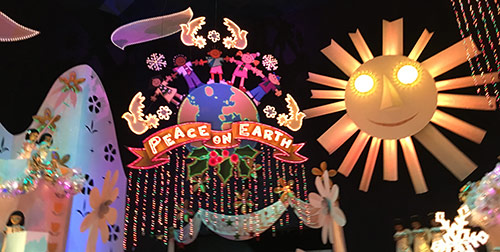 its a small world at Disneyland Peace on Earth