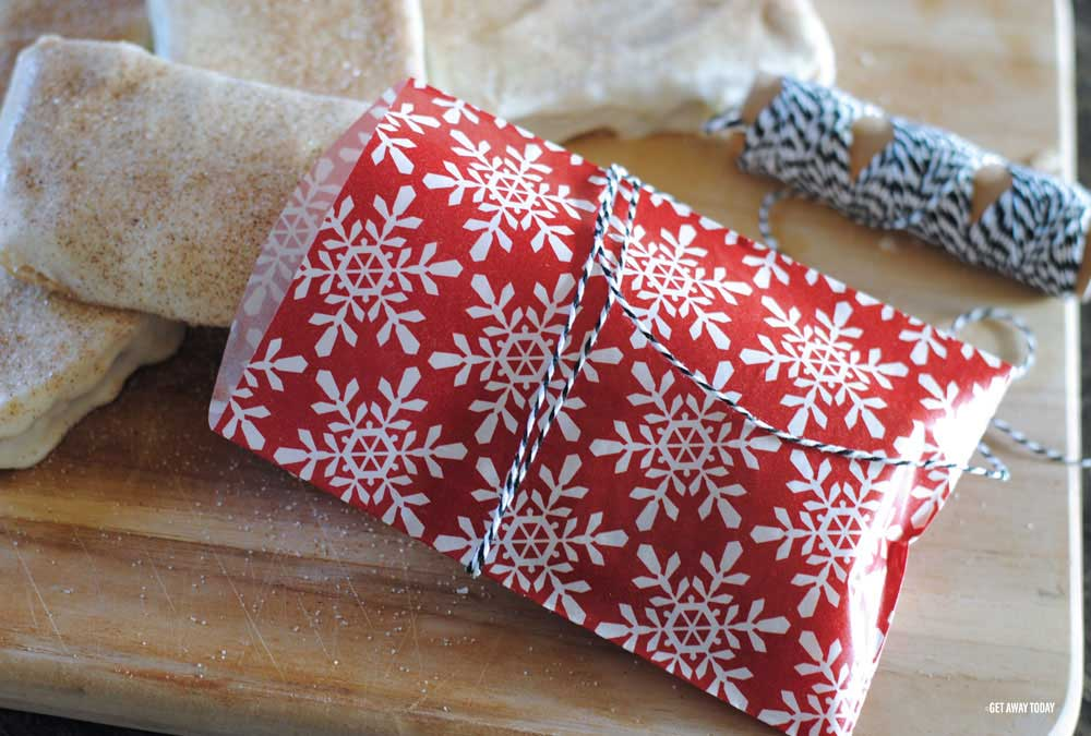 Disney churro toffee finished in Christmas wrapping