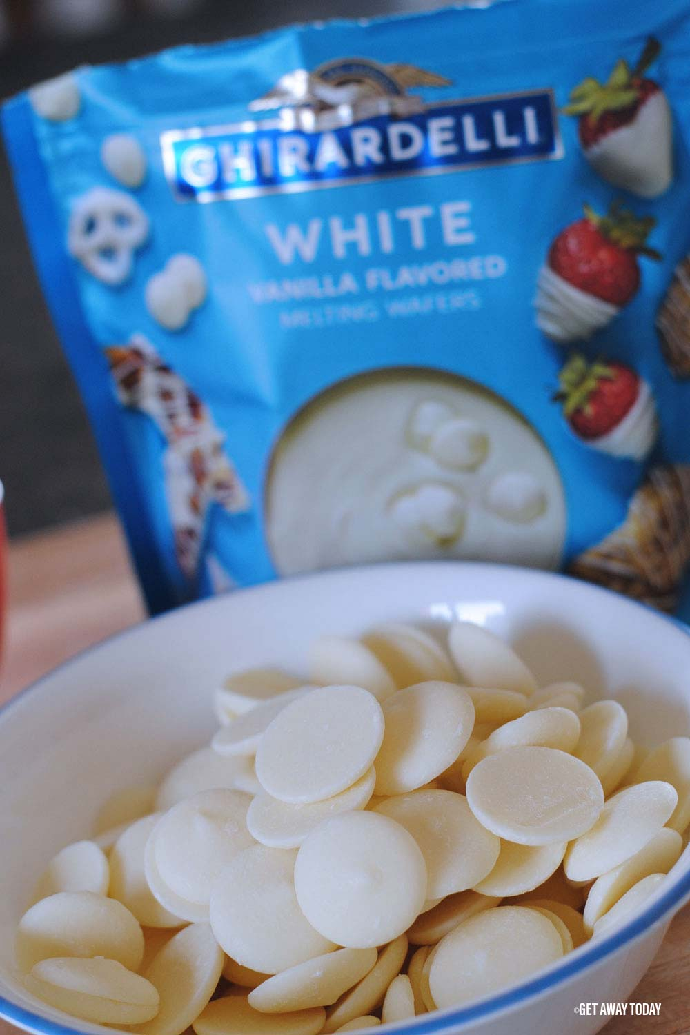 White chocolate bag