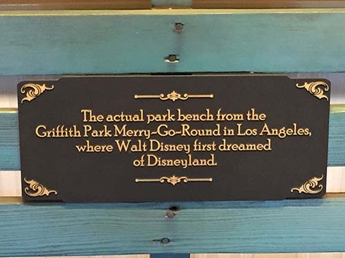 Disney Places That Aren't Disneyland Walt Dream Bench