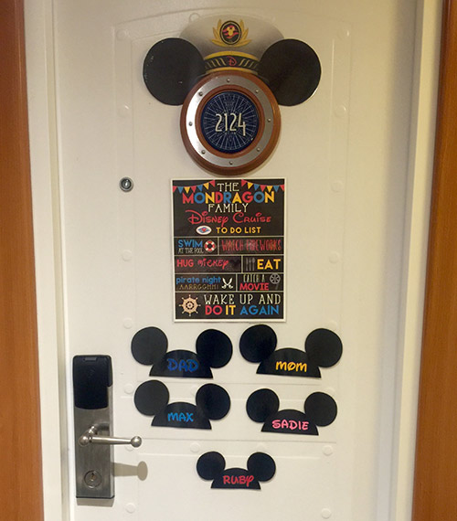 Disney Wonder Room Doors
