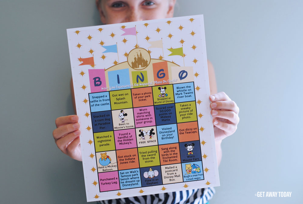 Disneyland Bingo Game Printable Header