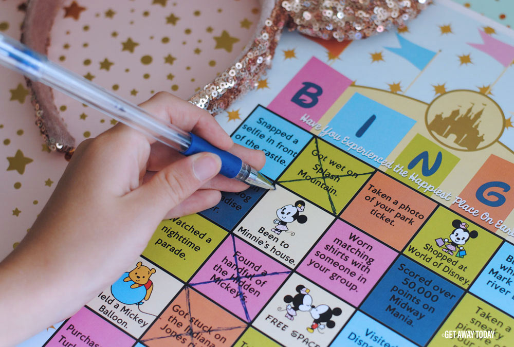 Disneyland Bingo Game Printable Mark Off