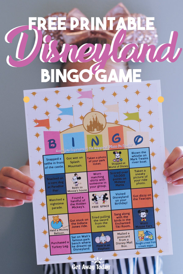 Disneyland Bingo Game Free Printable || Get Away Today
