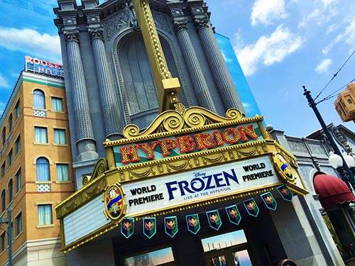 Frozen Pre Show Packages in Disneyland