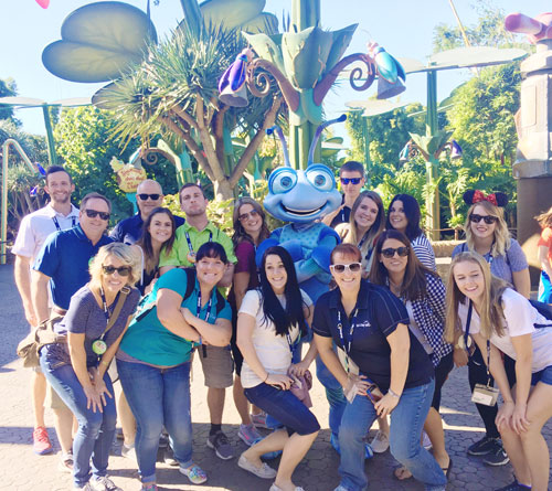 Group at Disney California Adventure Park
