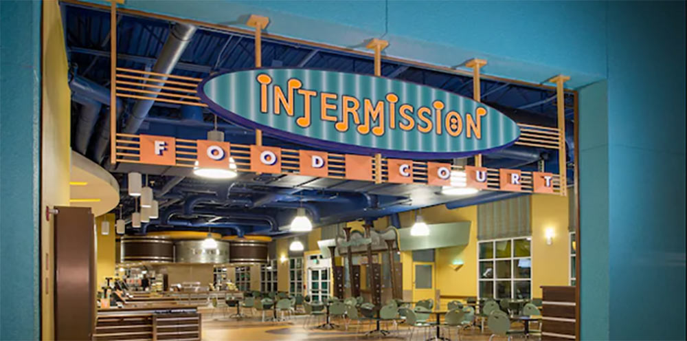 Disneys All Star Music Resort Intermission Food Court Dining Place