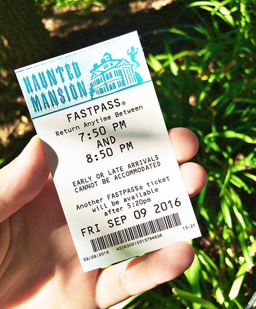 Haunted Mansion Holiday Fastpass Ticket