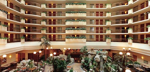 Embassy Suites Anaheim South Review Atrium